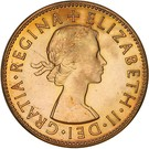 "½ Penny - Elizabeth II (1st portrait; without ""F:D:"") – obverse"