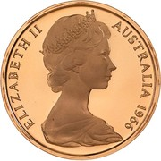 2 Cents - Elizabeth II (2nd portrait) -  obverse