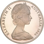 50 Cents - Elizabeth II (2nd portrait; Round type) – obverse