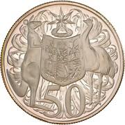 50 Cents - Elizabeth II (2nd portrait - Round type) -  reverse