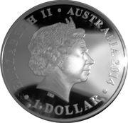 1 Dollar - Elizabeth II (Megafauna - Thylacoleo) -  obverse