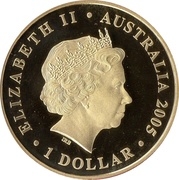 1 Dollar - Elizabeth II (4th Portrait - 90th Anniversary ANZAC) -  obverse