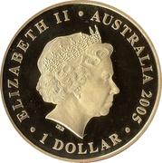 1 Dollar - Elizabeth II (90th Anniversary ANZAC) -  obverse
