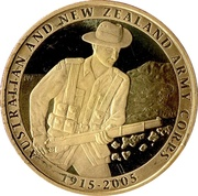 1 Dollar - Elizabeth II (4th Portrait - 90th Anniversary ANZAC) -  reverse