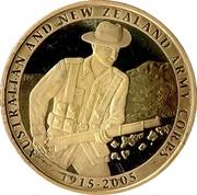 1 Dollar - Elizabeth II (90th Anniversary ANZAC) -  reverse