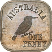 1 Penny - George V (Kookaburra Pattern - Type 6) – reverse