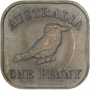 1 Penny - George V (Kookaburra Pattern - Type 13 (Renniks 12)) – reverse