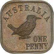 1 Penny - George V (Kookaburra Pattern - Type 11 (Renniks 13)) -  reverse
