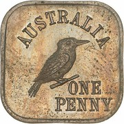 1 Penny - George V (Kookaburra Pattern - Type 4) – reverse