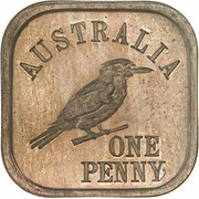 1 Penny - George V (Kookaburra Pattern - Type 9) -  reverse