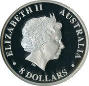 8 Dollars - Elizabeth II (4th Portrait - Koala - Silver Bullion Coin) -  obverse