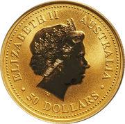 """50 Dollars - Elizabeth II (""""Kangaroo"""" Gold Bullion Coinage) -  obverse"""