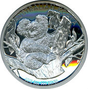 8 Dollars - Elizabeth II (4th Portrait - Koala - Silver Bullion Coin) -  reverse