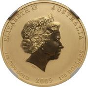 100 Dollars - Elizabeth II (4th Portrait - Year of the Ox - Gold Bullion Coin) -  obverse
