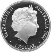 1 Dollar - Elizabeth II (4th Portrait - The Cartwheel Penny) -  obverse