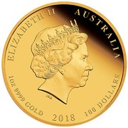 100 Dollars - Elizabeth II (4th Portrait - Year of the Dog - Gold Bullion Coin) -  obverse