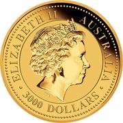 3000 Dollars - Elizabeth II (Australian Kangaroo) -  obverse