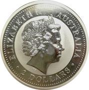 2 Dollar - Elizabeth II (Australian Kookaburra) -  obverse