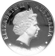 "1 Dollar - Elizabeth II (""Kangaroo"" High Relief Silver Bullion Coinage) -  obverse"