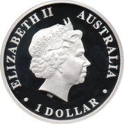 1 Dollar - Elizabeth II (4th Portrait - Emperor Penguin) -  obverse