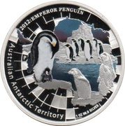 1 Dollar - Elizabeth II (4th Portrait - Emperor Penguin) -  reverse