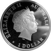 1 Dollar - Elizabeth II (Wandering albatross) -  obverse