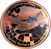 1 Dollar - Elizabeth II (Wandering albatross) -  reverse