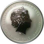 """8 Dollars - Elizabeth II (""""Lunar Year Series II"""" Silver Bullion Coinage) -  obverse"""