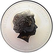 """1 Dollar - Elizabeth II (4th portrait; """"Lunar Year Series II"""" Year Of The Ox) -  obverse"""