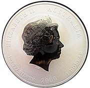 """1 Dollar - Elizabeth II (4th portrait; """"Lunar Year Series II"""" Silver Bullion Coinage) -  obverse"""