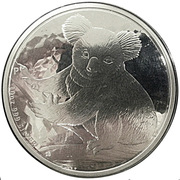 10 Dollars - Elizabeth II (4th Portrait - Koala - Silver Bullion Coin) -  reverse