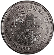 5 Dollars - Elizabeth II (Australian Kookaburra) -  reverse