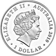 1 Dollar - Elizabeth II (4th portrait; 100th Anniversary of Australian Commonwealth Silver Coinage) -  obverse