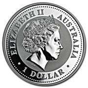 1 Dollar - Elizabeth II (4th Portrait - Year of the dog - Silver Gilded Coin) -  obverse