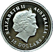 15 Dollars - Elizabeth II (Black-Anther Flax-Lily) -  obverse
