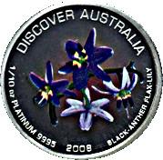 15 Dollars - Elizabeth II (Black-Anther Flax-Lily) -  reverse