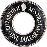 1 Dollar - Elizabeth II (The Holey Dollar) -  obverse