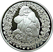 5 Dollars - Elizabeth II (4th Portrait - The Queen Mother - Silver Proof) -  reverse