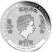 1 Dollar - Elizabeth II (Longest-Reigning Commonwealth Monarch) -  reverse
