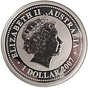"""1 Dollar - Elizabeth II (4th portrait; """"Lunar Year Series"""" Silver Bullion) -  obverse"""