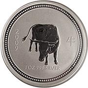 """1 Dollar - Elizabeth II (4th portrait; """"Lunar Year Series"""" Silver Bullion) -  reverse"""