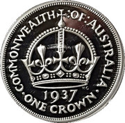 50 Cents - Elizabeth II (4th Portrait - Masterpiece in Silver - 1937 Crown) -  reverse