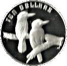 10 Dollars Elizabeth II (Birds of Australia Series - Kookaburra; Piedfort) -  reverse