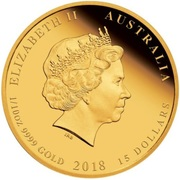 15 Dollars - Elizabeth II (4th Portrait - Year of the Dog - Gold Bullion Coin) -  obverse
