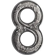 2 Dollars - Elizabeth II (Figure Eight Dragon) -  reverse