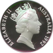 10 Dollars - Elizabeth II (Birds of Australia Series - Emperor Penguin; Piedfort) – obverse