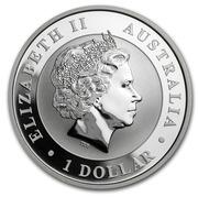 1 Dollar - Elizabeth II (Australian Kookaburra; High Relief) -  obverse
