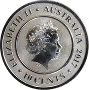 10 Cents - Elizabeth II (4th Portrait - Planetary Coins - Earth) -  obverse