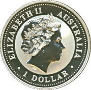 1 Dollar - Elizabeth II (Australian Kookaburra - Delaware) -  obverse