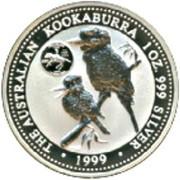 1 Dollar - Elizabeth II (Australian Kookaburra - Delaware) -  reverse